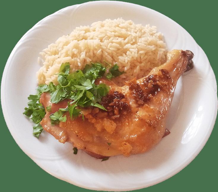 Hühnerkeule mit Orangello-Chilli Kruste