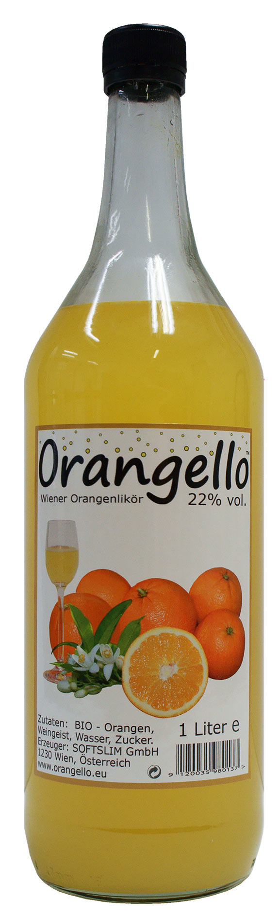 1 liter bio orangello bio orangello. Black Bedroom Furniture Sets. Home Design Ideas